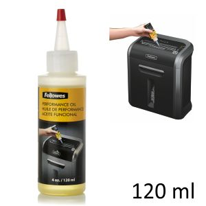 Aceite lubricante cuchillas destructoras Fellowes 120 ml