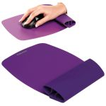 Alfombrilla con Reposamuñecas flexible Fellowes Violeta