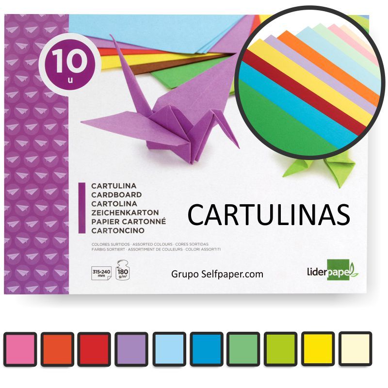 block de cartulinas de colores surtidos folio