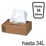 Bolsas para destructoras Fellowes hasta 34 Litros. C/100