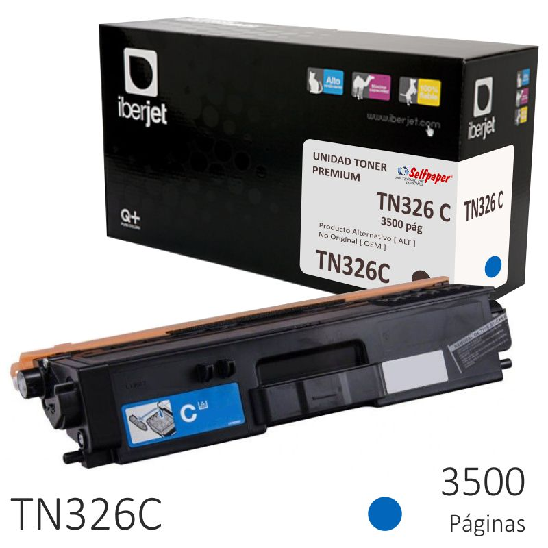 Comprar Toner compatible Brother TN326C azul cyan 3500 págs.