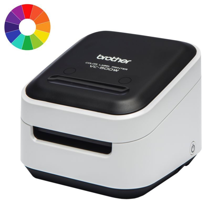 brother vc 500w impresora de etiquetas colores