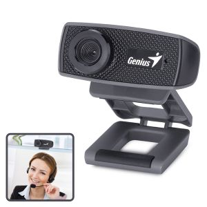 Webcam Genius Facecam 1000X HD, Cámara web con micrófono