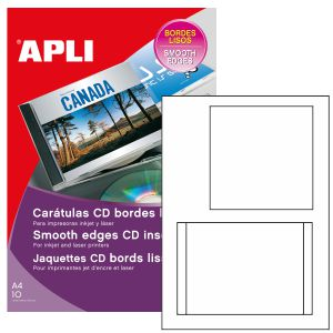 Caratulas Cd DVD Apli bordes Lisos