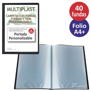 Carpeta escaparate 40 fundas portada personalizable