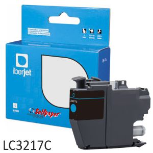 Compatible Brother LC3217C Cartucho tinta cyan azul