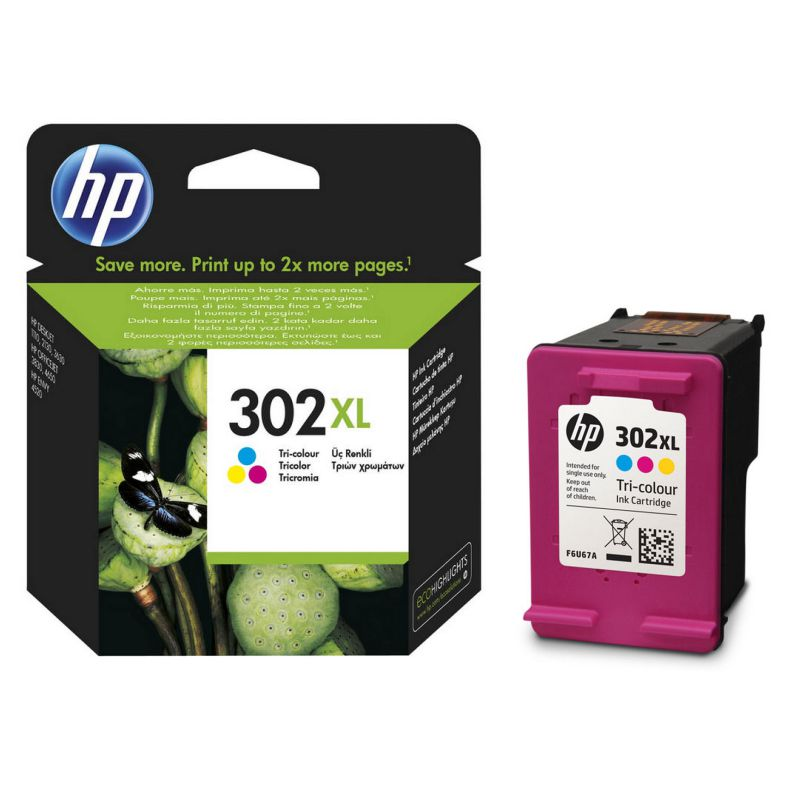 Comprar HP 302XL Tri-color, Cartucho de tinta original F6U67AE
