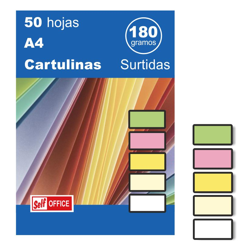 cartulinas colores surtidos din a4 folio