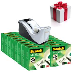 Scotch Magic 810, 19x33mm Pack 16u + dispensador Gratis