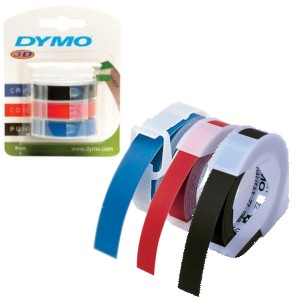 Comprar Cinta Dymo Manual 3d 9mm X 3 Mts Blister 3 Colores