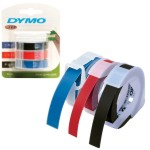Cinta Dymo Manual 3d 9mm X 3 Mts Blister 3 Colores