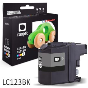 Compatible Brother LC123bk negro, LC121XL 600 páginas