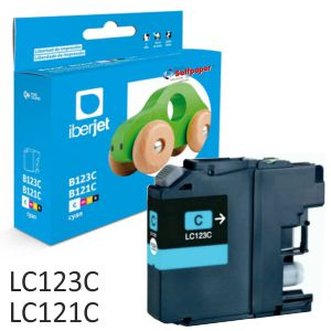 Compatible Brother LC123C Cyan, LC123M o LC123Y 600 páginas