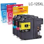 Compatible Brother LC125XLC Cyan, magenta o amarillo LC123