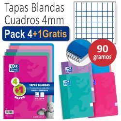 Libretas Oxford tapa cartoncillo Pack 4+1 Gratis, Tendencias