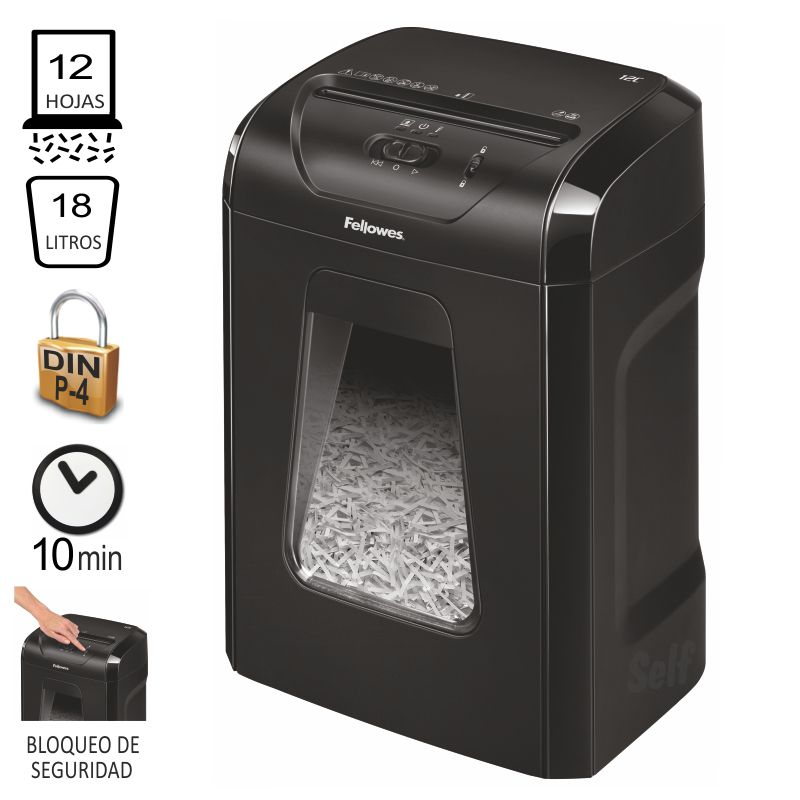 Comprar Fellowes 12C, Destructora de papel partículas P-4