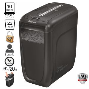 Destructora Fellowes 60CS, 10 hojas en Particulas Safe Sense
