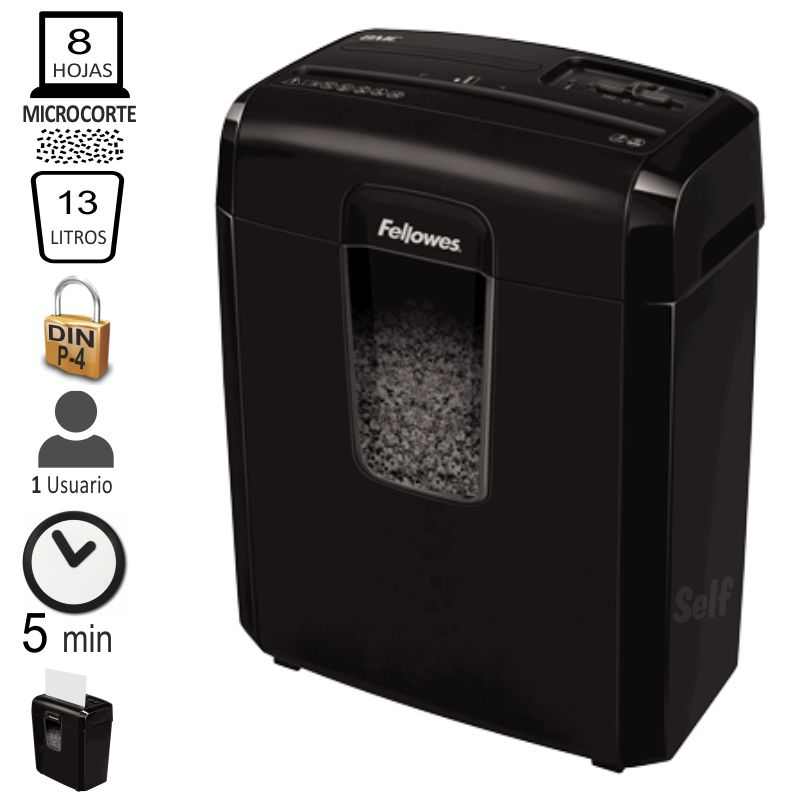 Comprar Fellowes 8Mc, destructora microparticulas Nivel P-4