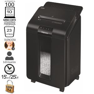 Fellowes 100M AutoMax, Destructora automática mini corte
