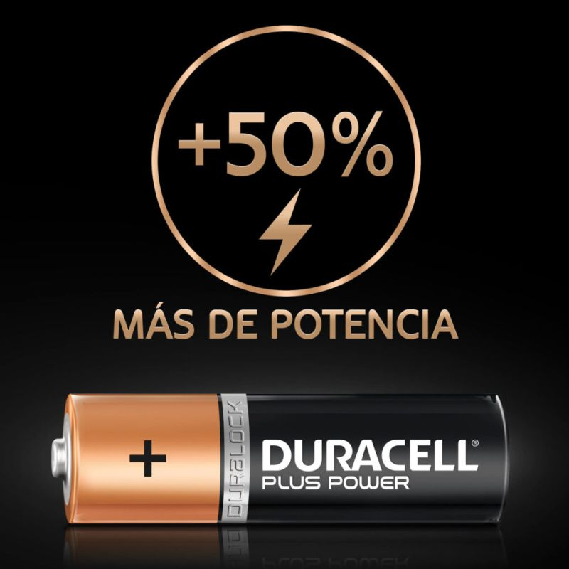 detalle pilas duracell power plus aaa 942796