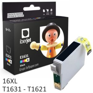 Epson T1631 16XL Compatible - cartucho de tinta negro 17 ml