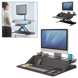 Fellowes Sit Stand Lotus, estación trabajo altura ajustable