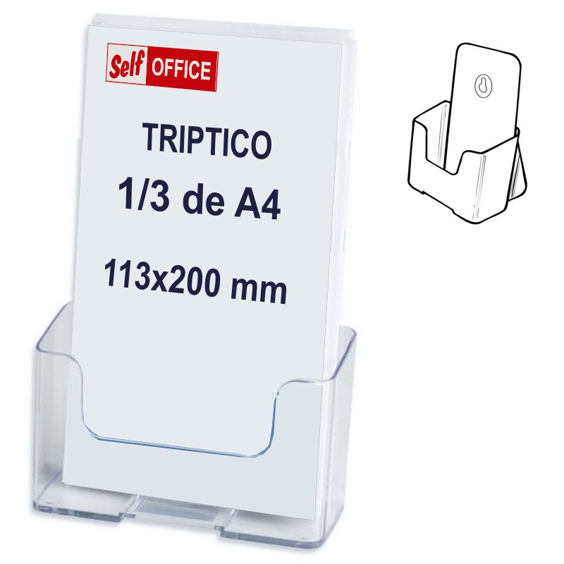 Comprar Display portafolletos sobremesa y pared, tercio de Folio A4