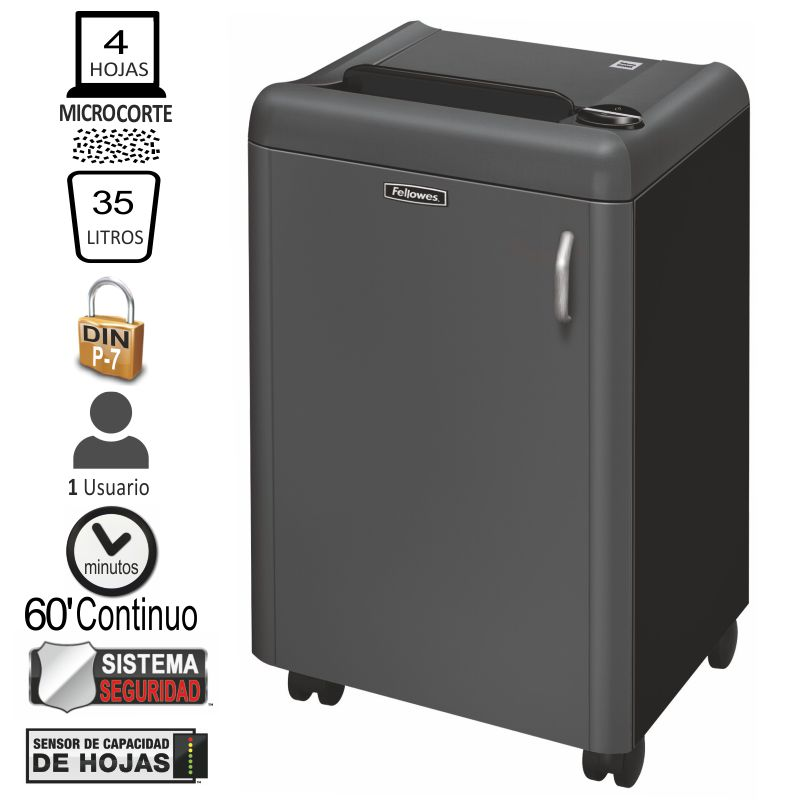 Comprar Destructora nivel seguridad P-7 Fellowes 1050HS