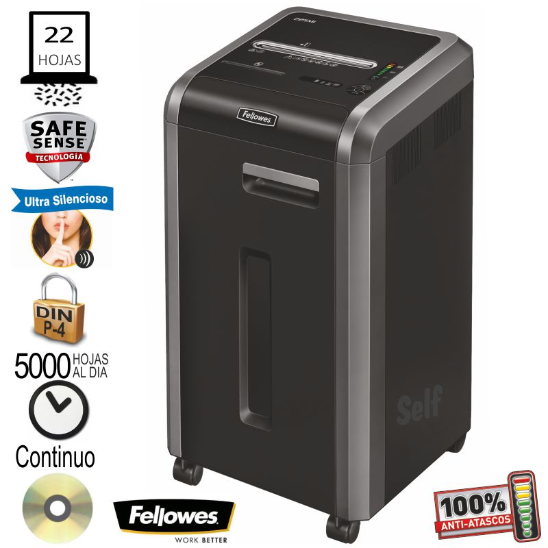 fellowes 225ci destructora de papel departamental