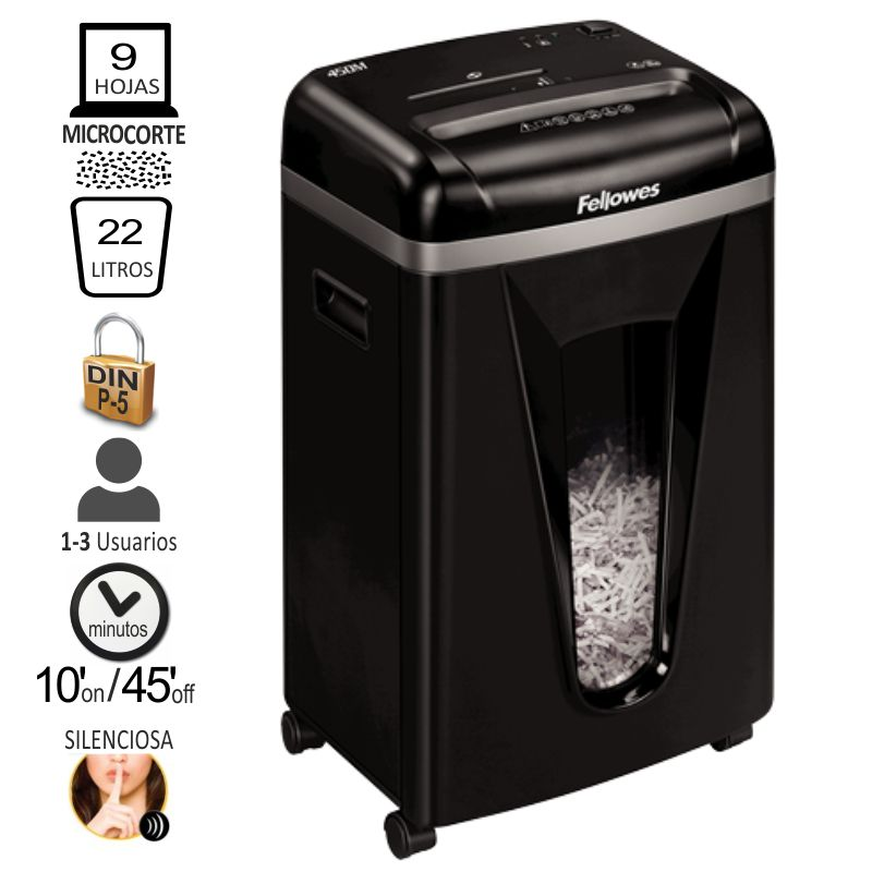 fellowes 450m destructora micro corte particulas