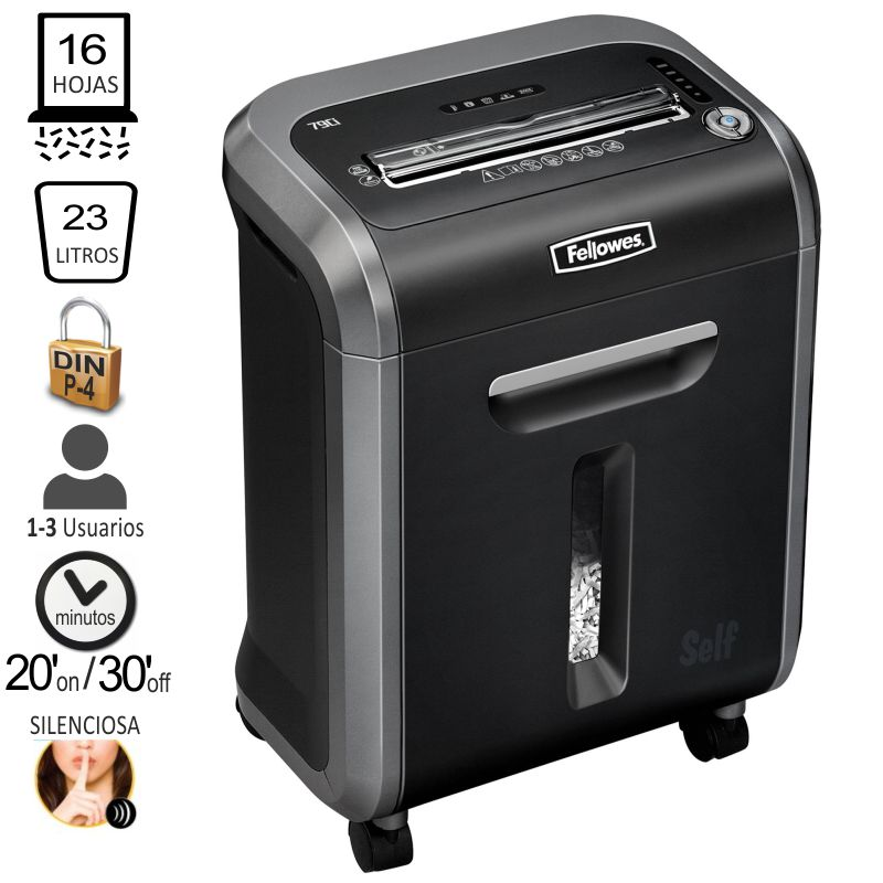 fellowes 79ci destructora de papel particulas