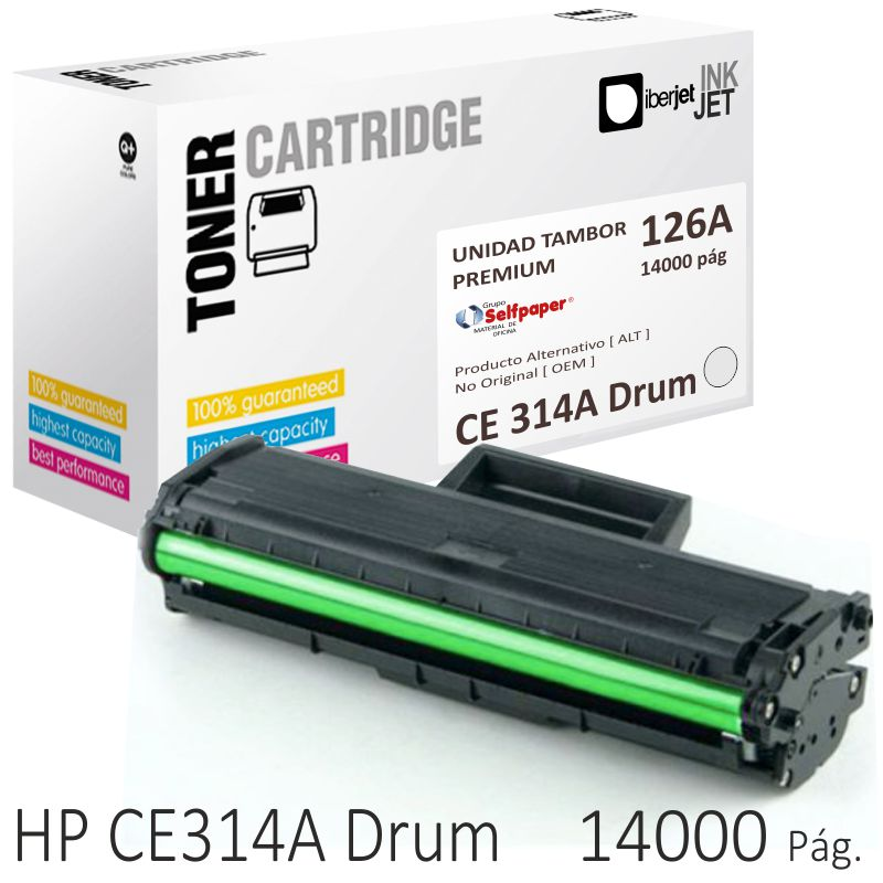 fotoconductor tambor hp 126a ce314a compatible dru