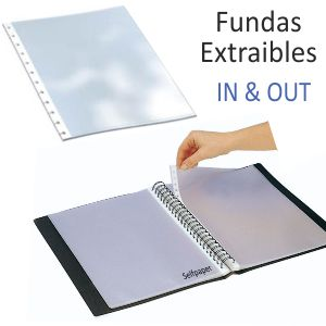 Fundas Grafoplas In & out extraibles Din A4, Pack 10