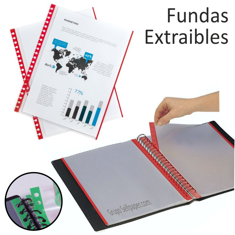 Comprar Fundas Extraibles Intercambiables lomo color Pte.10 unicolor