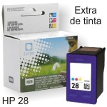HP 28 - Cartucho C8728A 17ml 50%+Tinta - remanufacturado