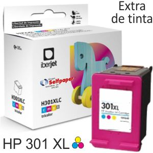 HP 301XL Color - Cartucho tinta compatible Deskjet 1050 2050