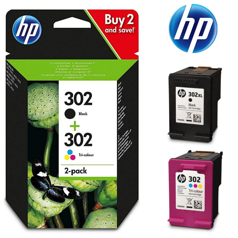 hp 302 pack ahorro cartucho tinta nnegro color