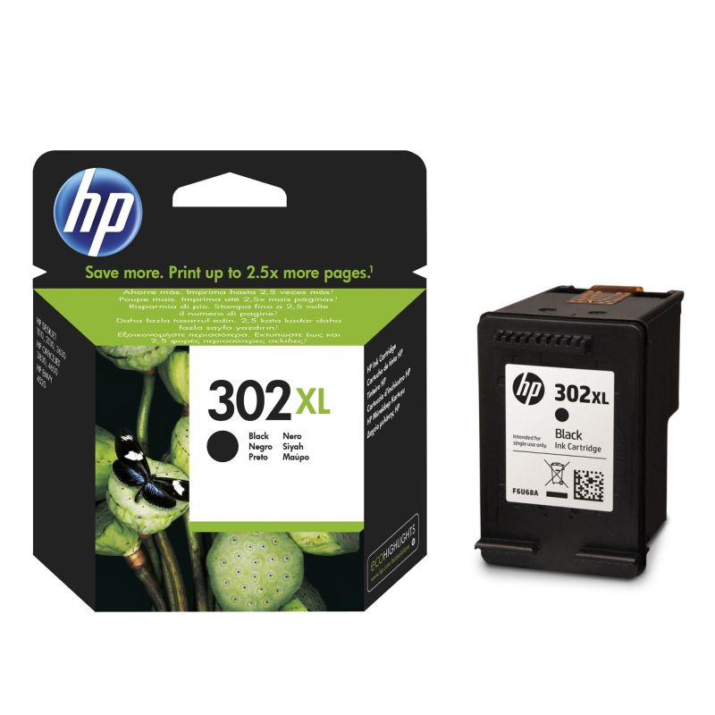 Comprar Cartucho original HP 302XL Deskjet Officejet F6U68AE