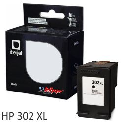 Cartucho compatible HP 302XL negro para f6u68ae