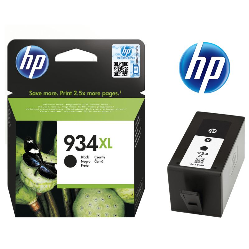 hp 934xl negro, cartucho de tinta original