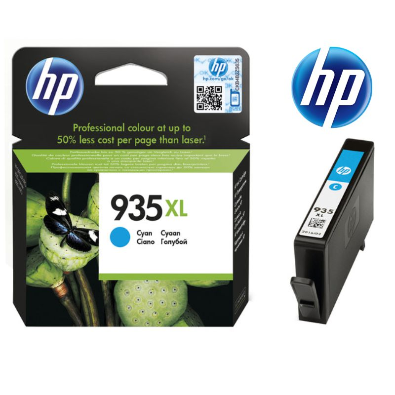 hp 935 xl cyan, cartucho de tinta color cian azul