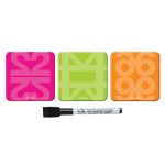 Imanes Tipo Post-it Quartet Pack 3 + Rotulador