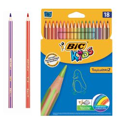Bic Kids Tropicolors, lápices de 18 colores surtidos