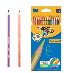 Lapices de color Bic Kids Tropicolors2 C/12