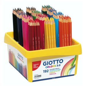 Schoolpack 192 lapices de madera Giotto Colors 3.0