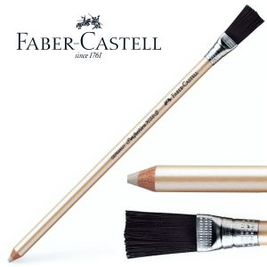 Lapiz Goma Faber-castell Perfection con escobilla pincel