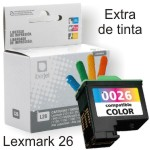 Lexmark X1100 compatible 26 y 27 cartucho color alta capacid