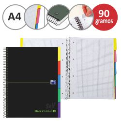Cuaderno Oxford con separadores Black n Colours