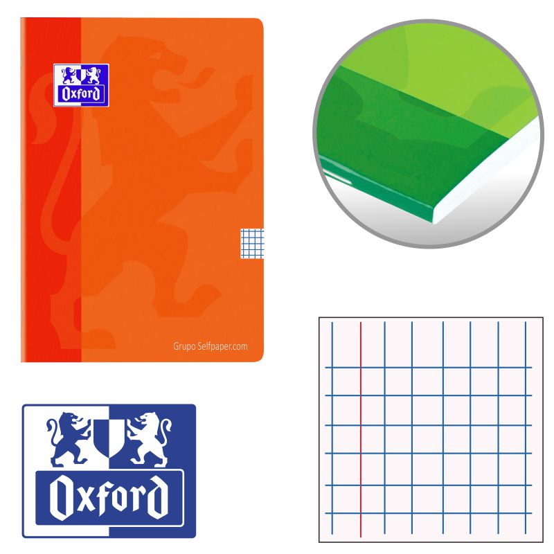 libretas grapas oxford cuadros 100101228