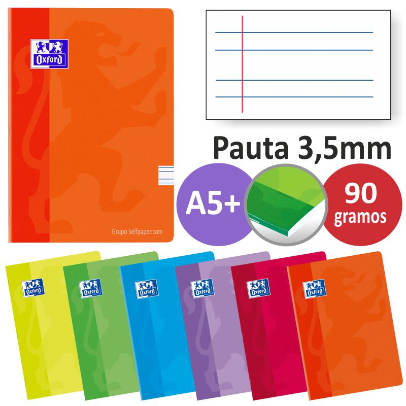 Comprar Libretas grapadas Oxford 2 rayas 3,5 mm, Pauta ancha A5